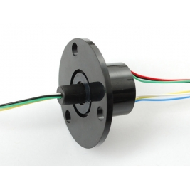 Slip Ring with Flange - 22mm diameter, 6 wires, max 240V  2A