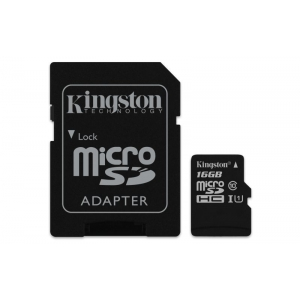 SD MICRO 16GB CL10 UHS-I CON ADATT. 80MB/S LET.10MB/S SCRIT.KING