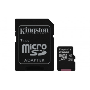SD MICRO 256GB CL10 UHS-I CON ADATT 80MB/S LET.10MB/S SCRIT.KING