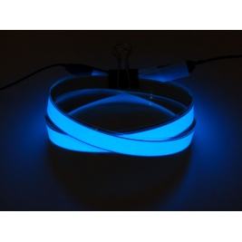 Blue Electroluminescent (EL) Tape Strip - 100cm w/two connectors