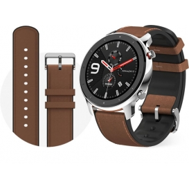 """SMARTWATCH 1,39"""" TOUCH ANDROID/IOS XIAOMI GTR 47MM BLK/BROWN ACC"""