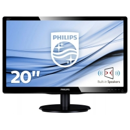 "MON 19,5""W-LED MM VGA DVI VESA PHILIPS 200V4LAB2 16:9 600:1 5MS"