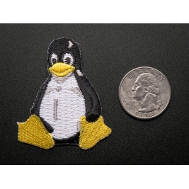 Linux Tux Penguin - Skill badge, iron-on patch
