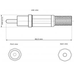 Connettore Audio RCA Maschio in plastica, Nero