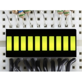 10 Segment Light Bar Graph LED Display - Yellow-Green