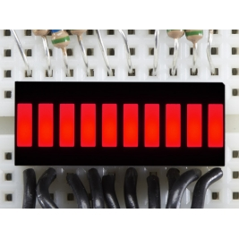 10 Segment Light Bar Graph LED Display - Red