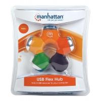 Hub USB 2.0 4 porte a snodo colorato