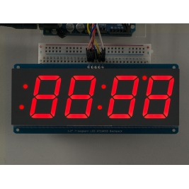 Adafruit 1.2 4-Digit 7-Segment Display w/I2C Backpack - Red
