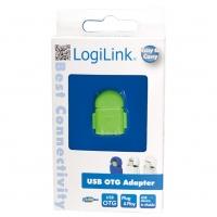 Adattatore USB 2.0 OTG MicroB M / A F per Smartphone/Tablet Verd