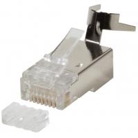 Plug Cat.6 / 6A / 7 / 7A RJ45 Schermato per Cavo Rigido/Flessibi