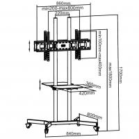 Supporto a Pavimento con Mensole Trolley 2 TV LCD/LED/Plasma 37-