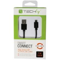 Cavo High Speed USB a MicroUSB Reversibile 0,6m Nero