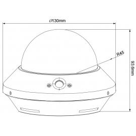 Telecamera Dome IP PoE DWDR IR SD da Soffitto Full HD 2MP AVM242