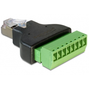 Adattatore RJ45 Maschio Terminal Block 8 pin