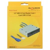 Lettore Interno di Memorie da 3.5   con Hub 4 porte USB3.0
