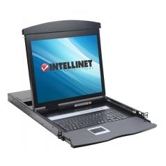 Console KVM USB/PS2 con LCD 17   da Rack 19   Dual Rail