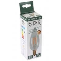 Lampada LED Candela E14 Bianco Caldo 3,2W Filamento Dimmerabile