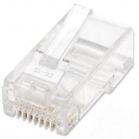 Confezione 100 Plug RJ45 UTP per Cavo Rigido Cat.5E