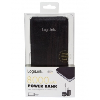Carica Batterie Power Bank per Smartphone Tablet 8000mAh USB Ner