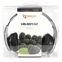 Cuffie Stereo con microfono HS-501B Nero