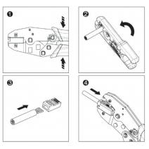 Pinza a  crimpare per plug RJ45  tipo Hirose