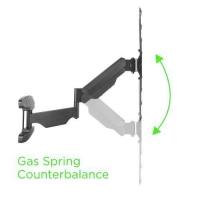 Supporto a Muro con Molla a Gas per TV Curve/Piatte 23-55   565m