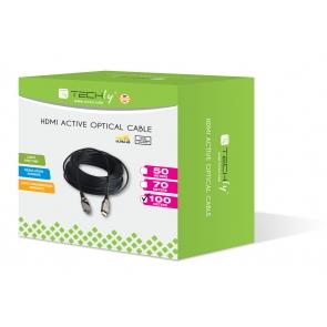 Cavo HDMI 2.0 AOC 4K Ultra HD Fibra Ottica HDMI 100 mt