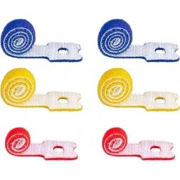 Fascette Fermacavo Blu-Rosso-Giallo in Velcro Set da 6 pz