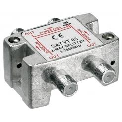 Splitter 3 vie per satellite 100 db, 1750 Mhz