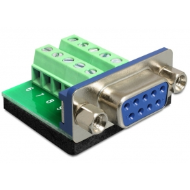 Adattatore DB9 pin Femmina Terminal Block 10 pin