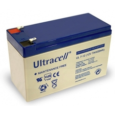 Batteria Ricaricabile 12V 7Ah Ultracell UL7-12(Faston 187 - 4.8