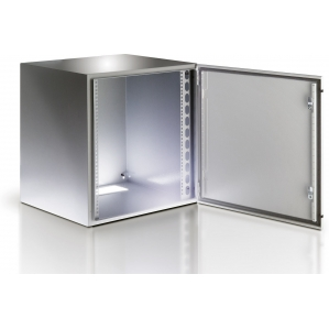 Armadio Rack 19   a muro 17U grigio IP65 porta vetro