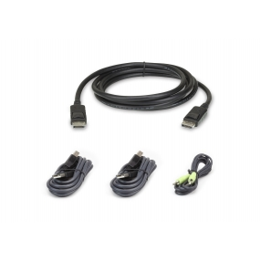 Kit cavo KVM di sicurezza schermo doppio USB DisplayPort da 1,8