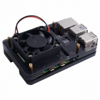 Black Case with Single Fan (Support Pi 4B)