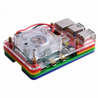 Colorful Case with Single Fan (Support Pi 4B)