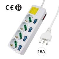 Multipresa elettrica 4 Posti 10/16A Bipasso 1.5m