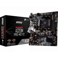 MB MSI A320M PRO-M2 V2 AM4 RYZEN 1M.2 2D4 4U2 4U3 PCIE GBLAN V/D