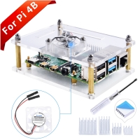 Raspberry Pi Single Layer Acrylic Case with Transparent Fan (Sup
