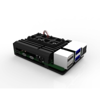 Armor Aluminum Metal Case with Dual Fans for Raspberry Pi (Suppo