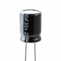 Condensatore Elettrolitico 220uF 35 Volt 105°C Lelon 8x11,5 Nast