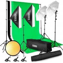 ESDDI Studio Fotografico Kit di Illuminazione 3x2.6M con Sistema