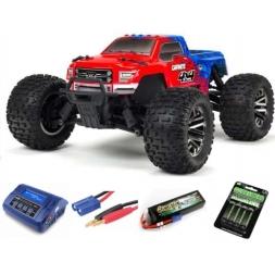 "Graniteâ""¢ 4X4 3S BLX Monster Truck RTR Spektrum - Red-blue SUPE"