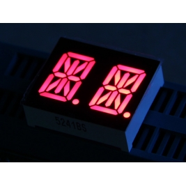 Dual Alphanumeric 14 Segment LED - Red 0.54 inch