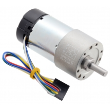 50:1 Metal Gearmotor 37Dx70L mm 24V with 64 CPR Encoder (Helical
