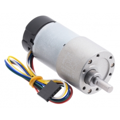 100:1 Metal Gearmotor 37Dx73L mm 12V with 64 CPR Encoder (Helica