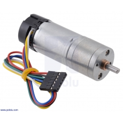 75:1 Metal Gearmotor 25Dx69L mm MP 12V with 48 CPR Encoder