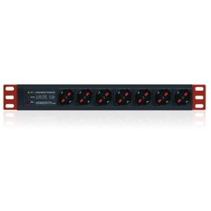 Multipresa da Rack 19   7 Posti 3 LED Cavo 1.8m Nero