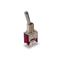 Toggle Switch - 3A, 120VAC, 28VDC, DPDT, ON-NONE-ON, SLDR