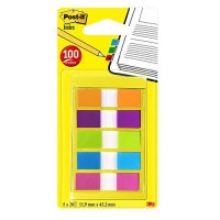 3M POST-IT INDEX MINI SEGNAPAGINA 11.9MM X 43.2MM COL. ASSORTITI