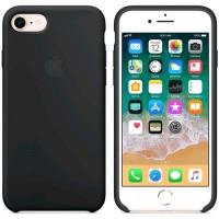 APPLE iPHONE 8 e 7 COVER ORIGINALE IN SILICONE COLORE NERO